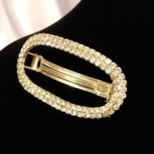 BEAUTIFUL RHINESTONE HAIR CLIP BARRETTE